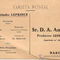 Postales: TARJETA POSTAL SIN CIRCULAR - ESPECIALIDADES LEPRINCE - BARCELONA. Lote 23570503