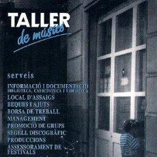 Cartes Postales: POSTAL PUBLICITARIA - TALLER DE MUSICS. Lote 23619979