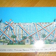 Postales: POSTAL PUBLICITARIA FRANCESA MAIRIE EXPO 79 - 92. CANNES AÑO 1992. HOTEL CARLTON. FRANCIA.. Lote 23676259