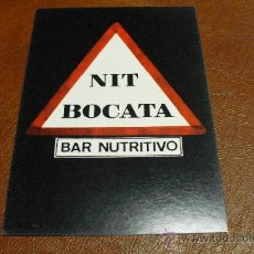 Postales: POSTAL TEMATICA PUBLICITARIA. NIT BOCATA .BAR NUTRITIVO.. Lote 24063913