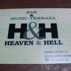 Postales: POSTAL TEMATICA PUBLICITARIA BAR & MUSIC-TERRAZA HEAVEN&HELL. Lote 24064025
