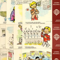 Postales: BONITA COLECCION K DE 12 TARJETAS DE LA LOTERIA NACIONAL DEL AÑO 1.979 EN . Lote 24311715