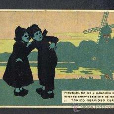 Postales: POSTAL PUBLICITARIA DE TONICO NERVIOSO CERA. MOLINO DE VIENTO. Lote 24393414