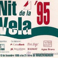 Postales: POSTAL PUBLICITARIA - NIT DE LA VELA . Lote 24808371