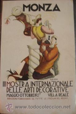 MONZA - III MOSTRA INTERNACIONAL DEL ARTE DECORATIVO 1927 (Postales - Postales Temáticas - Publicitarias)