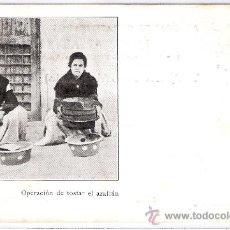 Postales: AZAFRANES JAIME AMATLLER- OPERACIÓN DE TOSTAR EL AZAFRAN - (5582). Lote 25385954