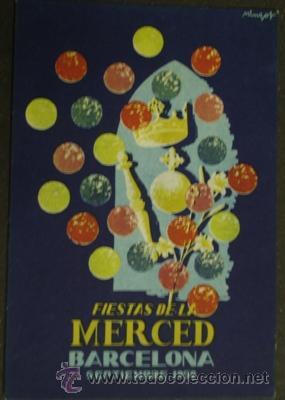 FIESTA DE LA MERCED BARCELONA 1958 (Postales - Postales Temáticas - Publicitarias)