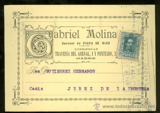 TARJETA POSTAL DE GABRIEL MOLINA. JEREZ. (Postales - Postales Temáticas - Publicitarias)
