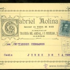 Postales: TARJETA POSTAL DE GABRIEL MOLINA. JEREZ.. Lote 26040953