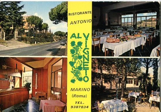 RISTORANTE ANTONIO MARINO ROMA ESCRITA SIN CIRCULAR (Postales - Postales Temáticas - Publicitarias)