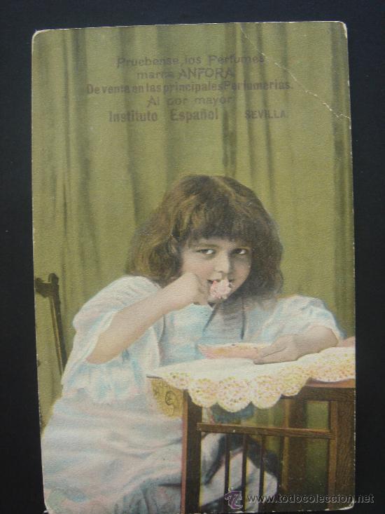 ...PERFUMES MARCA ÁNFORA.... ESCRITA Y FECHADA EN CABRA EL 13-III-1909 (Postales - Postales Temáticas - Publicitarias)