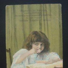 Postales: ...PERFUMES MARCA ÁNFORA.... ESCRITA Y FECHADA EN CABRA EL 13-III-1909. Lote 27259806