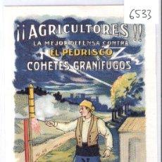 Postales: AGRICULTORES- COHETES GRANIFUGOS- ESPINOS - REUS- (6533). Lote 27397912