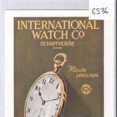 Postales: INTERRNATIONAL WATCH- SCHAFFHOUSE - (6536). Lote 27398043