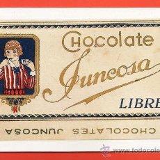 Postales: POSTAL / REPRODUCCION - ETIQUETA/ ENVOLTORIO CHOCOLATE - JUNCOSA LIBRE - ED CEENE - AÑO 1992. Lote 27598588