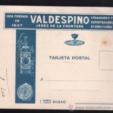 Postales: TARJETA POSTAL PUBLICITARIA DE VALDESPINO, JEREZ DE LA FRONTERA (CADIZ). Lote 27866464