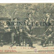 Postales: (PS-23475)POSTAL PUBLICITARIA QUINTETO ESPAÑOL DE BARCELONA. Lote 176793824