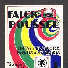 Postales: POSTAL PUBLICITARIA DE FALCK-ROUSSEL, TINTAS Y PRODUCTOS PARA LAS ARTES GRÁFICAS. Lote 27982144