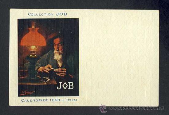POSTAL PUBLICITARIA: COLLECTION JOB (CIGARRILLOS, TABACO). 1898, MODERNISTA, ART NOUVEAU (Postales - Postales Temáticas - Publicitarias)