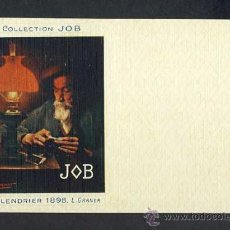 Postales: POSTAL PUBLICITARIA: COLLECTION JOB (CIGARRILLOS, TABACO). 1898, MODERNISTA, ART NOUVEAU. Lote 28290665