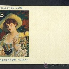 Postales: POSTAL PUBLICITARIA: COLLECTION JOB (CIGARRILLOS, TABACO). 1904, MODERNISTA, ART NOUVEAU. Lote 28290675