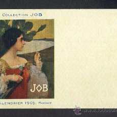 Postales: POSTAL PUBLICITARIA: COLLECTION JOB (CIGARRILLOS, TABACO). 1905, MODERNISTA, ART NOUVEAU. Lote 28290679