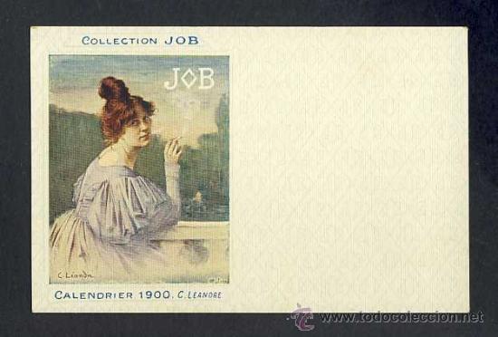 POSTAL PUBLICITARIA: COLLECTION JOB (CIGARRILLOS, TABACO). 1900, MODERNISTA, ART NOUVEAU (Postales - Postales Temáticas - Publicitarias)