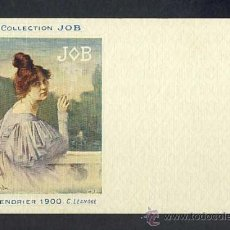 Postales: POSTAL PUBLICITARIA: COLLECTION JOB (CIGARRILLOS, TABACO). 1900, MODERNISTA, ART NOUVEAU. Lote 28290688