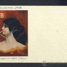 Postales: POSTAL PUBLICITARIA: COLLECTION JOB (CIGARRILLOS, TABACO). 1897, MODERNISTA, ART NOUVEAU. Lote 28290787