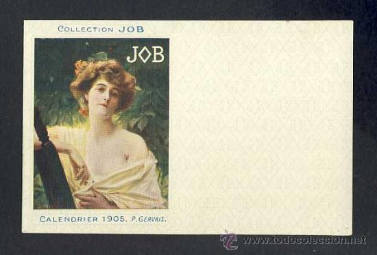 POSTAL PUBLICITARIA: COLLECTION JOB (CIGARRILLOS, TABACO). 1905, MODERNISTA, ART NOUVEAU (Postales - Postales Temáticas - Publicitarias)
