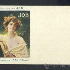 Postales: POSTAL PUBLICITARIA: COLLECTION JOB (CIGARRILLOS, TABACO). 1905, MODERNISTA, ART NOUVEAU. Lote 28290799