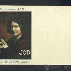Postales: POSTAL PUBLICITARIA: COLLECTION JOB (CIGARRILLOS, TABACO). 1906, MODERNISTA, ART NOUVEAU. Lote 28290807