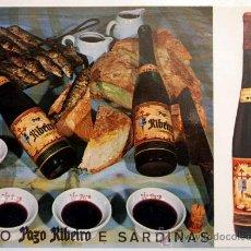 Postales: POSTAL VIÑO PAZO RIBEIRO E SARDIÑAS.. Lote 28297036