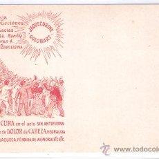Postales: POSTAL PUBLICITARIA - JAQUECURINE GOLOBART- EVITA Y CURA EL DOLOR DE CABEZA.....(7868). Lote 28353806
