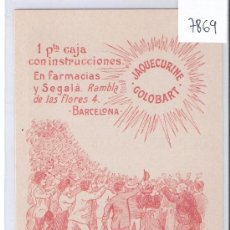 Postales: POSTAL PUBLICITARIA - JAQUECURINE GOLOBART- EVITA Y CURA EL DOLOR DE CABEZA.....(7869). Lote 28353818