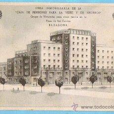 Postales: OBRA INMOBILIARIA DE LA CAJA DE PENSIONES PARA LA VEJEZ Y EL AHORRO. GRUPO DE VIVIENDAS, BADALONA.. Lote 228487775