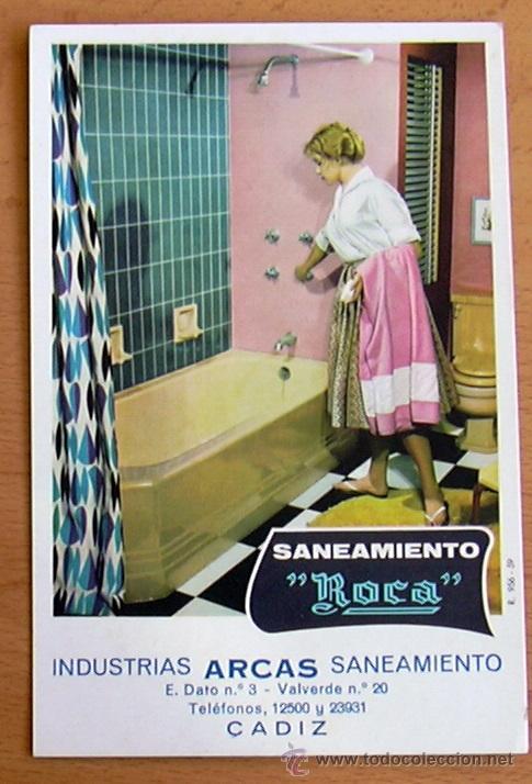 POSTAL PUBLICITARIA - SANEAMIENTO ROCA - INDUSTRIAS ARCAS (CÁDIZ) (Postales - Postales Temáticas - Publicitarias)