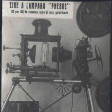 Postales: CINE A LAMPARA