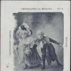 Postales: CHOCOLATES LA RIOJANA.-(MÁLAGA) EL CAKE WALK EN PARIS. Lote 29288349