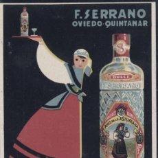 Postales: ANIS DE LA ASTURIANA-F. SERRANO- OVIEDO-QUINTANAR. Lote 29331352