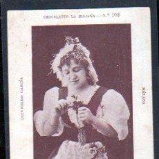 Postales: TARJETA POSTAL CHOCOLATES LA RIOJANA. Nº 102. LEOVIGILDO GARCIA - ARTISTA ITALIANA. . Lote 29497529