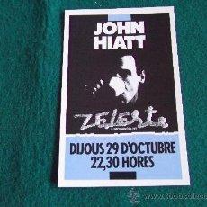 Postales: POSTALES-D8-JOHN HIATT-ZELESTE. Lote 29597614