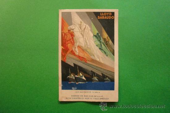 LLOYD SABAUDO EXPOSICION GENERAL ESPAÑOLA SEVILLA BARCELONA 1929 (Postales - Postales Temáticas - Publicitarias)