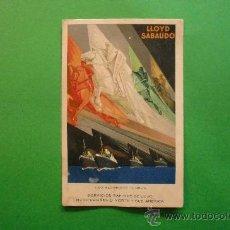 Postales: LLOYD SABAUDO EXPOSICION GENERAL ESPAÑOLA SEVILLA BARCELONA 1929. Lote 29636011