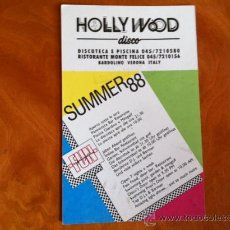 Postales: HOLLYWOOD DISCO . VERONA . ITALIA . SUMMER 88. Lote 29701519
