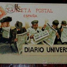 Postales: ANTIGUA POSTAL PUBLICITARIA ORIGINAL DEL DIARIO UNIVERSAL, ILUSTRADA POR CECILIO PLA, SIN DIVIDIR, N. Lote 30287309
