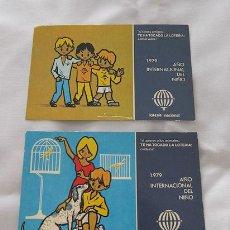 Postales: DOS POSTALES LOTERIA NACIONAL 1979. Lote 30738961
