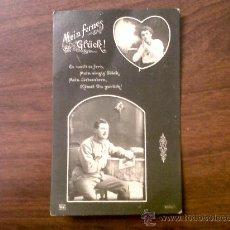 Postales: POSTAL ROMANTICA EN ALEMAN-DORSO PUBLICIDAD SASTRERIA LA POLAR DE ENRIQUE RUBIO. Lote 30850080