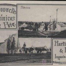 Postales: PRODUCTOS QUIMICOS DEL PUIG.-MARTINEZ & MORA INGENIEROS. Lote 30869896
