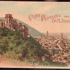 Postales: TARJETA POSTAL PUBLICITARIA DE GRUSS AUS KEIDELBERG. VINO PEPTONA DEL DR. M.JOHNSON. Lote 31152681